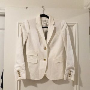 NWT J Crew Schoolboy Blazer - White, Size 0